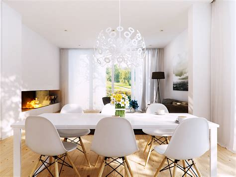 Modern White Dining Room Inspiring Interior Designs By P M Studio