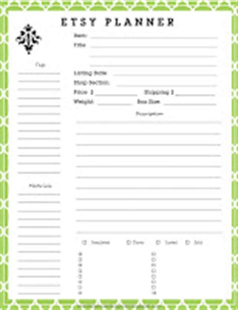 etsy free printable planner free printable etsy planner anderson grant