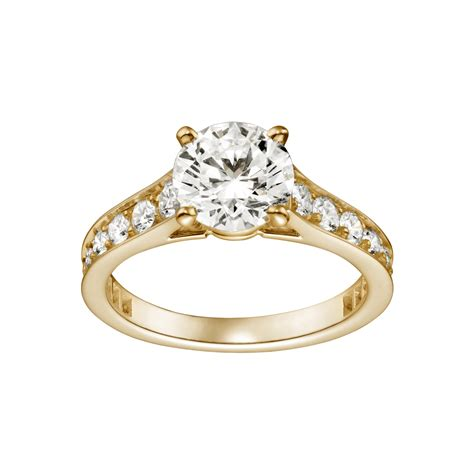 yellow gold solitaire engagement rings 171 diamantbilds