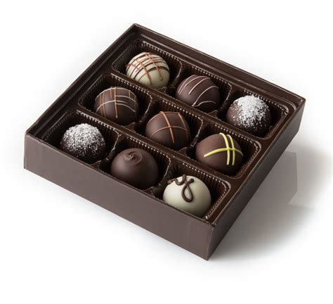 Handcrafted Chocolates - handmade chocolate secrets truffle collection 9 box