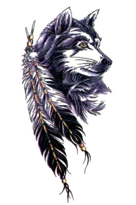 wolf feather tattoo designs feather meaning ink vivo