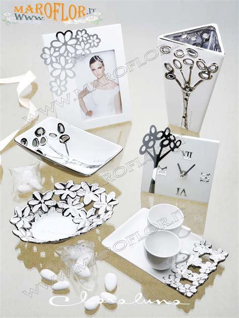 cornici claraluna bomboniere claraluna 14018 portafoto in legno bianco con