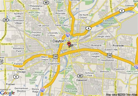 map of oregon district dayton ohio map of crowne plaza hotel dayton dayton