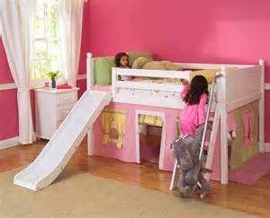 Kid Bunk Bed With Slide White Wooden Bunk Bed With Slide