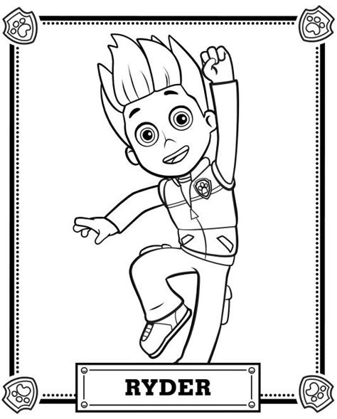 free coloring pages of paw patrol luke stars sky of paw patrol free colouring pages