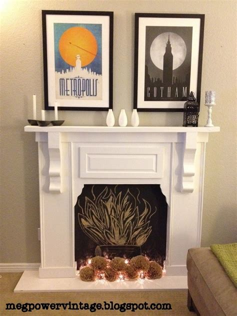 diy faux fireplace for the home
