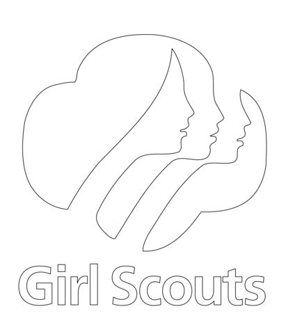 Scout Logo Outline by Scouts Logo Coloring Page Free Printable Coloring Pages
