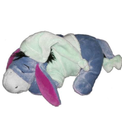 animal bon dormeur doudou peluche bourriquet disney nicotoy bleu clair ciel