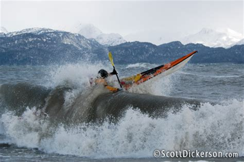 kayak surfing between two boats scott dickerson sea kayak surfing alaska