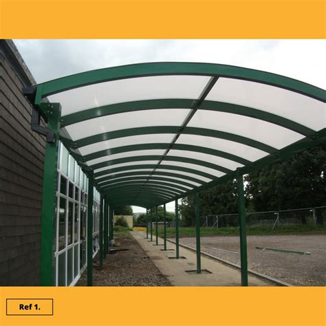 curved awnings curved canopies school canopies commercial canopies and