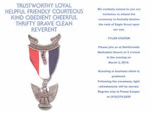 Eagle Scout Invitation Template by Eagle Scout Quotes Like Success