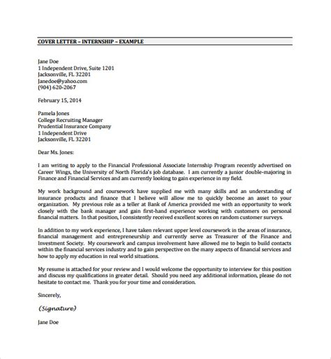 Cover Letter For Engineering Internship Pdf Free Internship Cover Letter Exles