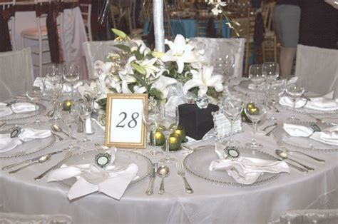 Diamond Theme Wedding Table Decorations