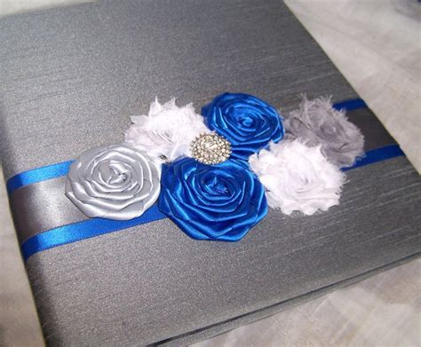 GUEST Book, Photo Spot, Royal Blue Guest Book, Charcoal