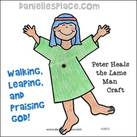 peter heals the lame man bible crafts and games
