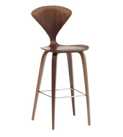 Cherner Bar Stool by Cherner Style Bar Stool With Wooden Base