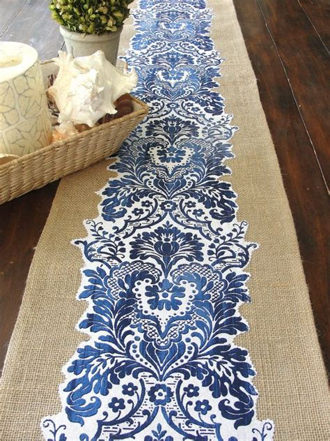 blue table runner 25 best ideas about burlap table runners on