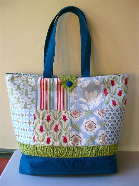 Patchwork Tote Bag Pattern - craftionary