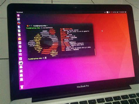 how to install ubuntu on macbook ubuntu 16 04 running on macbook pro techonia