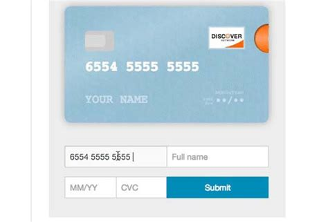 Credit Card Form Js 5 Free Jquery Credit Card Form Plugins And Validators Designbeep