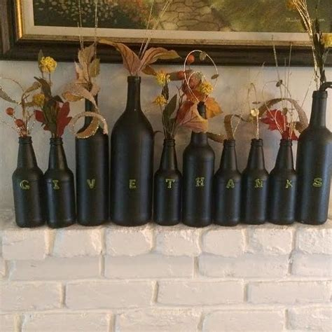 wine bottle home decor fun diy thanksgiving wine bottle decor hometalk