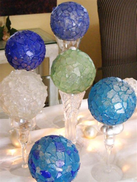 glass ornament crafts sea glass ornaments hgtv