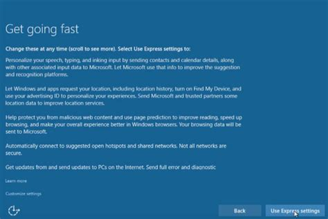 install windows 10 cost windows 10 upgrade express settings how to customize them