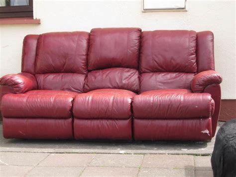 3 peice luxury leather recliner suite i sofa chair not