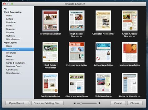 apple pages templates for newsletters how to customize templates in iwork apps for mac the mac