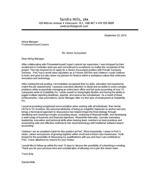 pwc cover letter cover letters for accounting 80 for