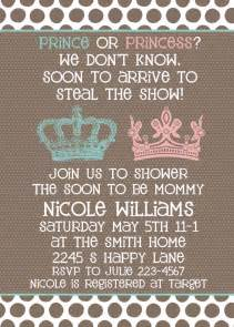 baby shower invitation neutral gender unknown shower