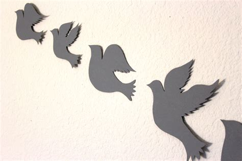 dove wall wall decor for room paper birds baby
