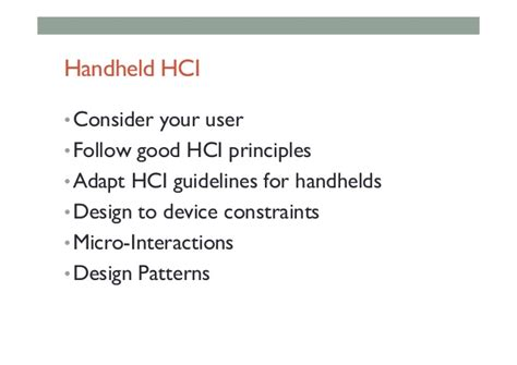 design guidelines in hci mobile ar lecture 9 mobile ar interface design