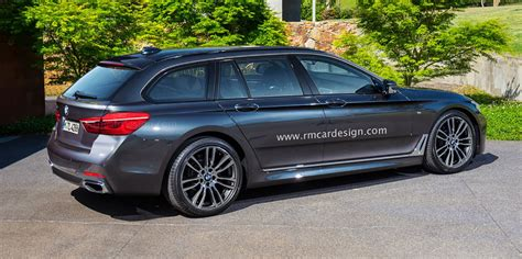 Bmw 4 Series Wagon by 2017 Bmw 5 Series Sedan And Touring Wagon Rendered