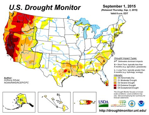 us drought map 2015 wildfire season a record breaker earth earthsky