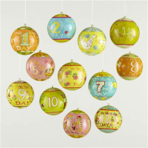 12 days of christmas ornaments fab christmas decorations