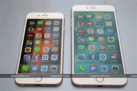 ndtv mobile compare iphone 6s and iphone 6s plus review ndtv gadgets360