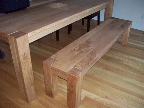 oak dining benches white oak dining table and bench by j lumberjocks com