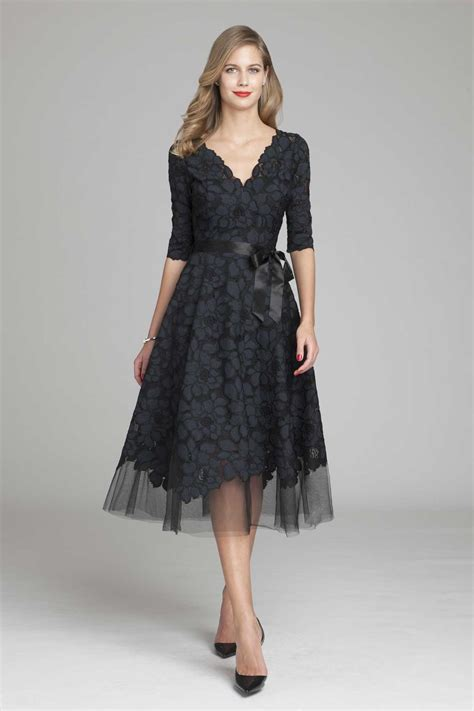 Lace A Line Dress teri jon lace and tulle v neck a line dress teri jon