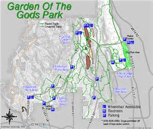 Garden Of The Gods Directions Garden Of The Gods Contour Map