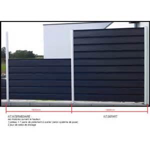 kit intermediaire cl 244 ture aluminium pleine metaclo steel