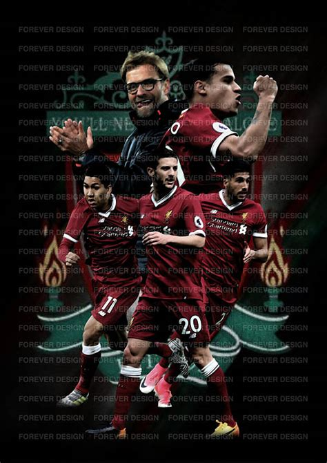 poster design liverpool liverpool fc 2017 2018 own design poster a3