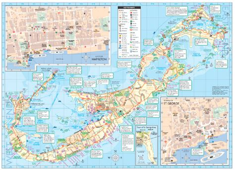 printable road map of bermuda tourist map of bermuda bermuda mappery