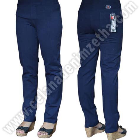 Celana Warna Biru Navy celana zetha katun warna biru dongker celana denim zetha