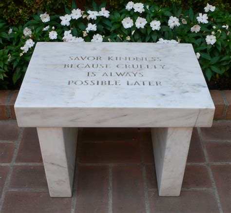 Jenny Holzer Bench Truth And The Power Of Words Image Object Text