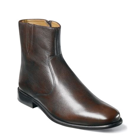 florsheim mens boots florsheim hugo plain toe demi boots in brown for lyst