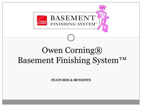 owens corning basement finishing remodeling