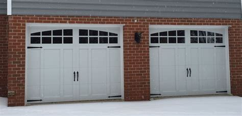 9x7 Garage Door by Two 9x7 Model 5632a Carriage Style Overlay Garage Doors With Arched Stockton Top Glass Installed
