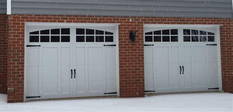 Garage Door 9x7 by Two 9x7 Model 5632a Carriage Style Overlay Garage Doors