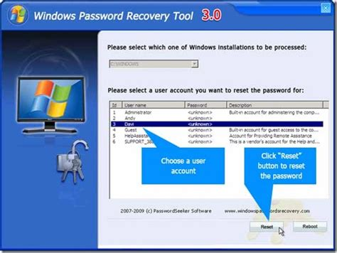 reset password windows xp download free windows 7 password reset iso usb